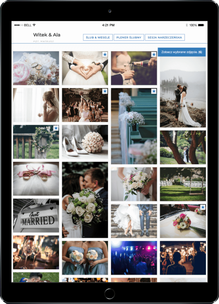 galria ślubna weselna